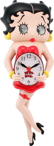 Animated wall Clock, Betty Boop, great mothers day gift.