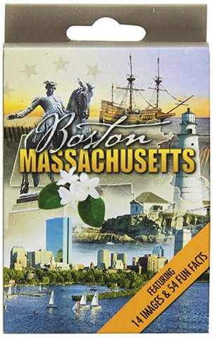 Massachusetts Souvenir playing cards two  deck  gift set