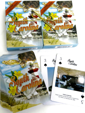South Carolina Souvenir playing cards two  deck  gift set
