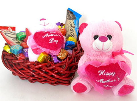 Mothers day Real wood wicker basket, Dove chocolate selection of 20 promises truffles and dove  chocolate bars.