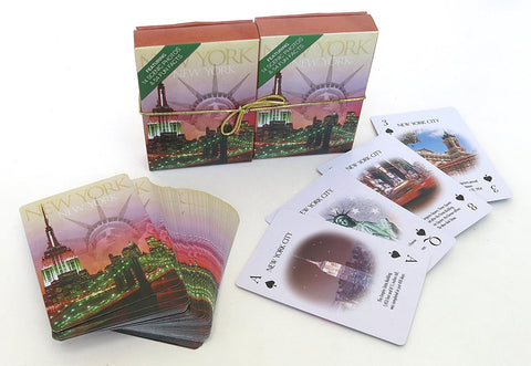 New York Souvenir playing cards two  deck  gift set