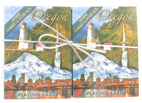 Oregon Souvenir playing cards two  deck  gift set