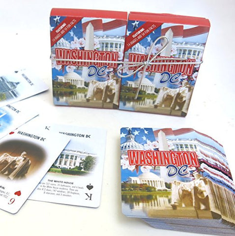 Washington D.C. Souvenir playing cards two  deck  gift set