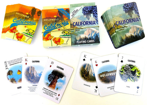 California souvenir playing cards two  deck  gift set