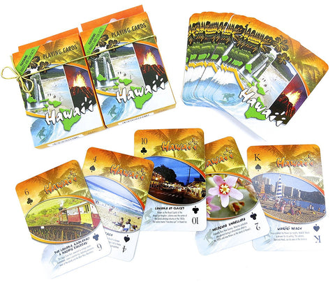 Hawaii  Souvenir playing cards two  deck  gift set