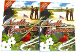 North Carolina Souvenir playing cards two  deck  gift set