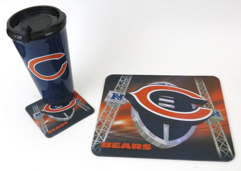Chicago Bears Mouse pad, Tumbler & Coaster set