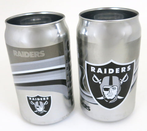 Oakland Raiders  Playoffs chrome beer can tumbler set of 2