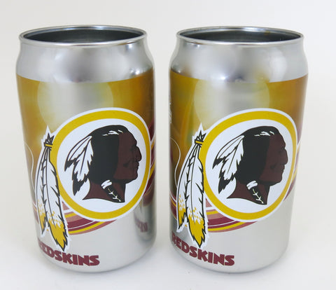 Washington Redskins thick glass Chrome plated tumblers,