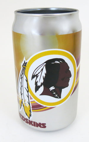Washington Redskin's think glass chrome plated tumbler.. Looks like a beer cans