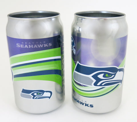 Seattle SeahawksExtra thick glass chrome plated tumblers, looks like a real beer cans.