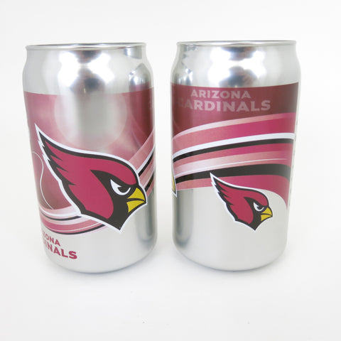 Arizona Cardinals chrome beer can tumbler set of 2
