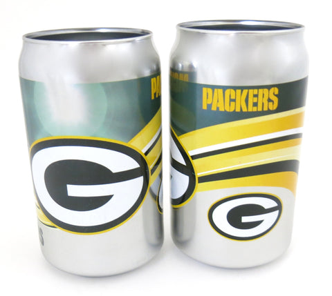 Green Bay Packers Palyoffs chrome beer can tumbler set of 2