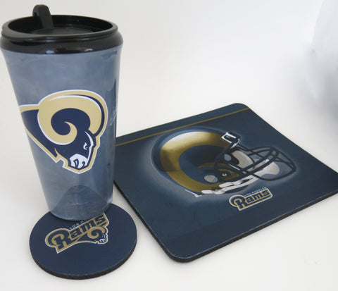 Los Angeles Rams Computer workstation sat. A great Father's Day gift