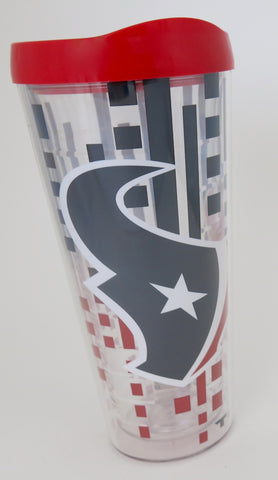 Houston Texans large tall 22 ounce double wall tumbler. An outstanding Father's Day gift