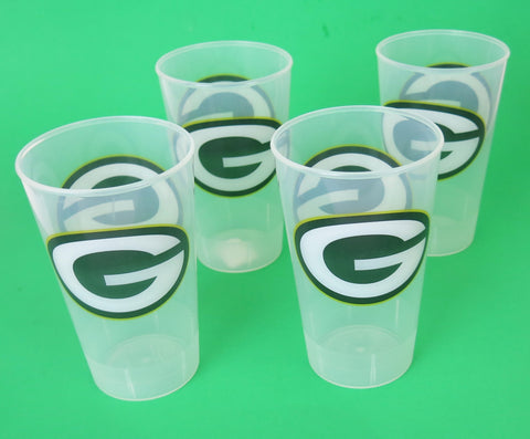 Green Bay Packers party tumblers large think and unbreakable