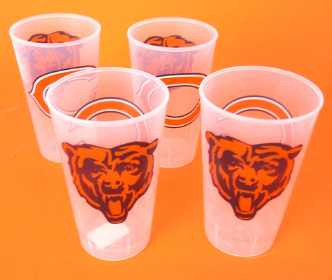 Chicago Bears beer & drink cups, 16oz unbreakable. set of 4, father's Day gift.