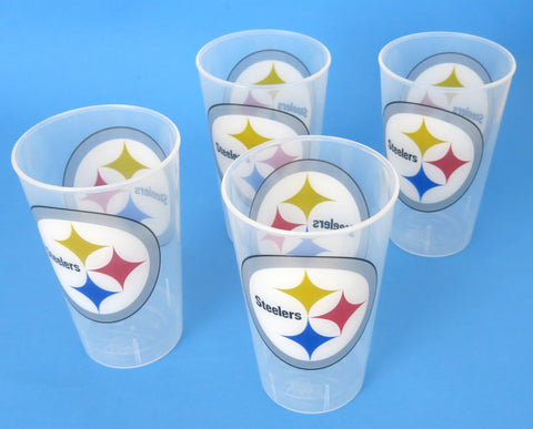 Pittsburgh Steelers large strong thick unbreakable party tumblers. A great Mother's Day gift