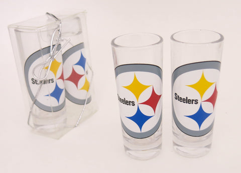 Pittsburgh SteelersSet of two call shot glasses./ a great Father's Day gift
