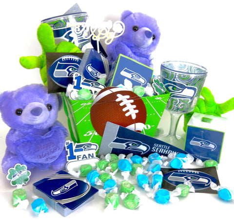 Seattle Seahawks  Basket, great for mothers day.