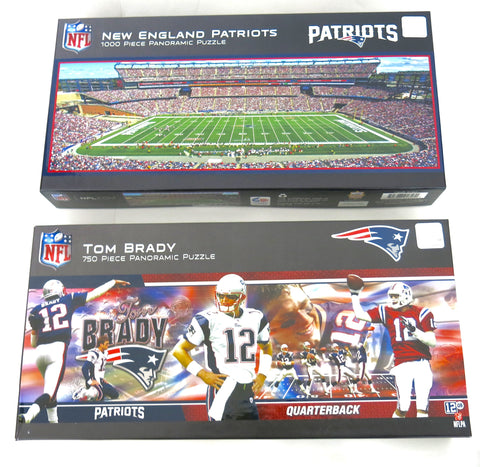 New New England Patriot stadium and Tom Brady puzzle set. A great gift on Mother's Day