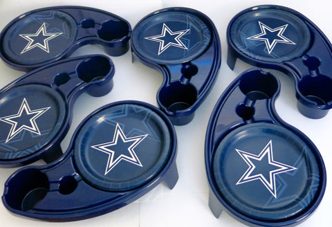 Dallas cowboys  playoffs  tailgate & Game day  16 paper plates.  the plates are bundled with  6 SHOPITIVITY   brand   buffet / t v trays