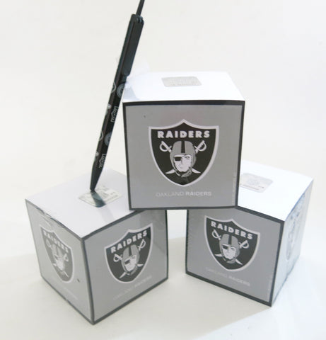 Oakland Raiders Paper cubes and Pen set