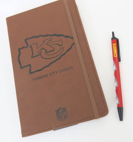Kansas City Chiefs  Large Journal  and Pen set.