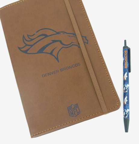 Denver Broncos platoffs   Large Journal  and Pen set.