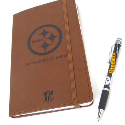 Pittsburgh Steelers large journal in retracted bullpen set. An outstanding Father's Day gift