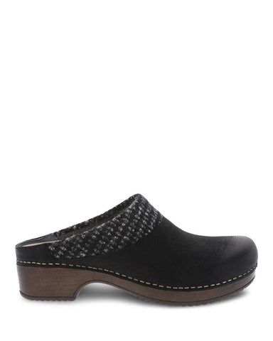 Dansko Bev Black Burnished Nubuck