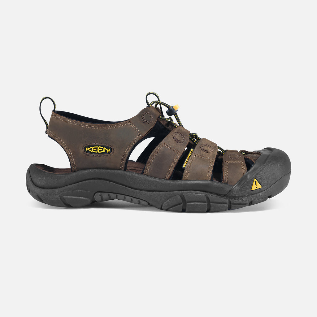 Keen Men's Newport Leather Water Shoe in Bison & Steel Grey