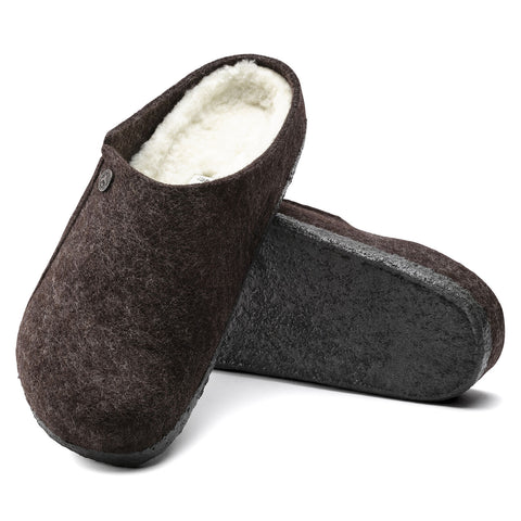 Birkenstock Zermatt Wool Felt Shoe or Slipper in Mocha or Anthracite