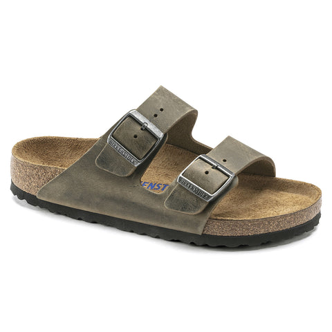 Birkenstock Arizona Soft Footbed in Faded Khaki Oiled Leather