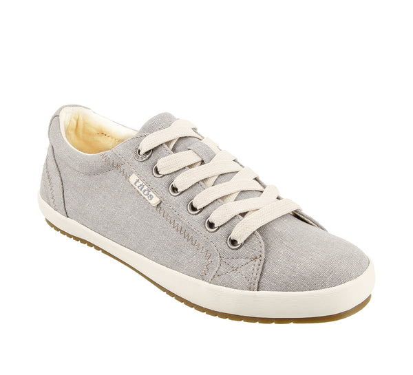 Taos Star Canvas Sneaker in Blue, Charcoal & Grey Wash
