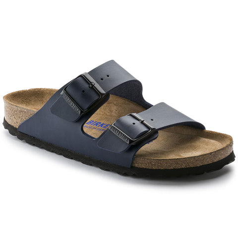 Birkenstock Arizona Soft Foot Bed in Blue & Black
