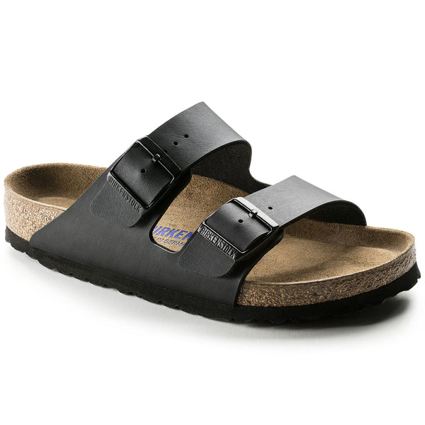 Birkenstock Arizona Birko-Flor Soft Foot Bed in Black, Navy & Silver