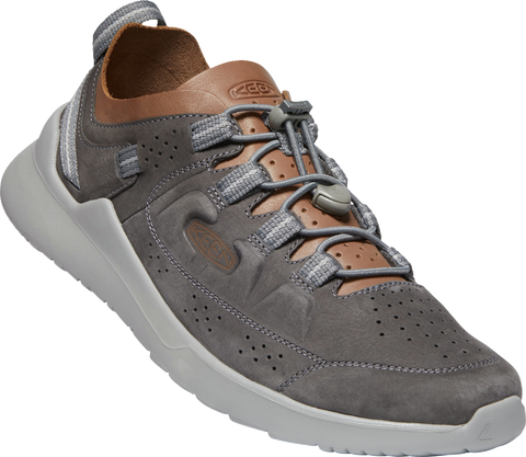Keen Men's Highland Leather Sneaker in Steel Grey
