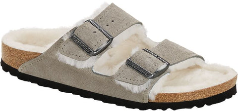 Birkenstock Arizona Shearling Suede Leather Sandal or Slipper
