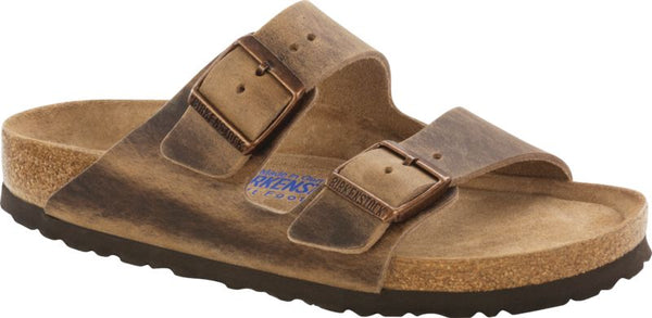 Birkenstock Arizona Soft Foot Bed in Jade, Blue, Habana, Iron & Tobacco Oiled Leather - Some available in Narrow Widths