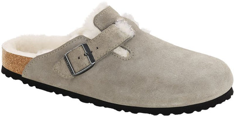 Birkenstock Boston Shearling Suede Leather in Narrow