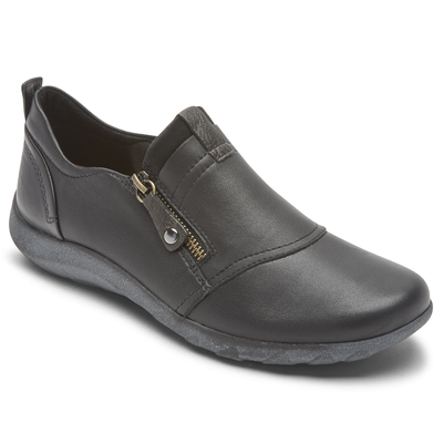 Rockport Women's Cobb Hill Amalie Zipper Slip-On Available in Wide Widths
