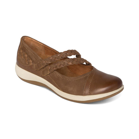 Aetrex Annie Mary Jane in Black & Cognac