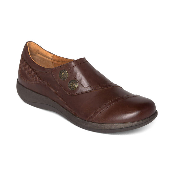 Aetrex Karina Monk Strap in Brown & Black