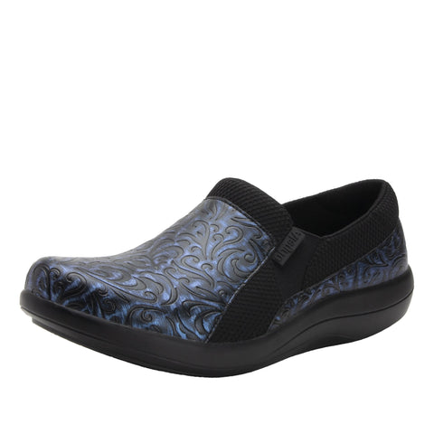 Alegria Duette in Blue Steel, Flower & Black Flourish in Wide Widths