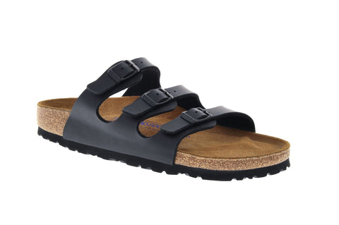 Birkenstock Florida Soft Foot Bed in Black