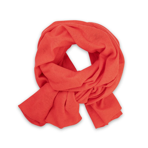 Pistil Nectar Cashmere & Wool Scarf in Poppy & Oatmeal