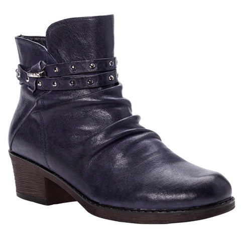 Propet Roxie Navy Boot in Available in Wide Widths