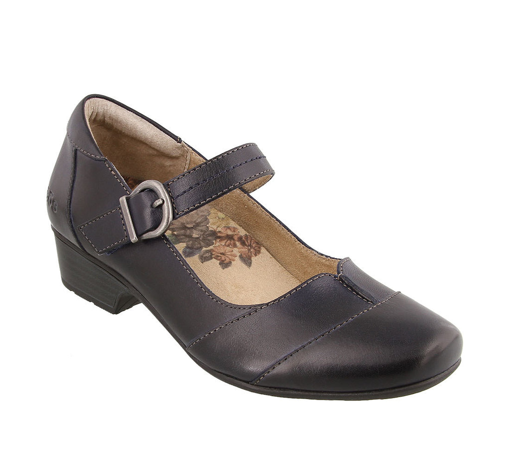 Taos Balance Mary Jane in Navy & Black