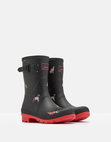 Joules Molly Dog Mid Height Rain Boot